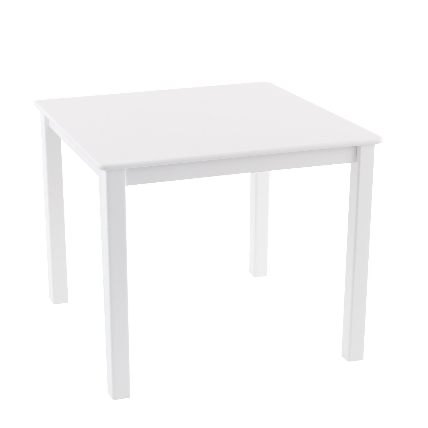Max & Lily Natural Wood Kid and Toddler Square Table, White