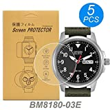[5-Pcs] for Citizen BM8180-03E Watch Screen Protector, Full Coverage Screen Protector for Citizen BM8180-03E Watch HD Clear Anti-Bubble and Anti-Scratch