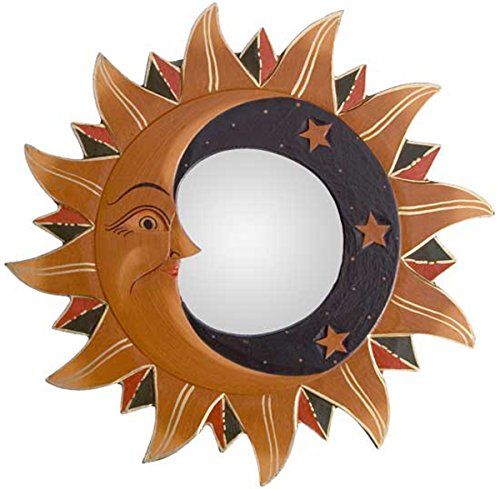 Gold Small Sun, Moon & Stars Mirror with Black Accents