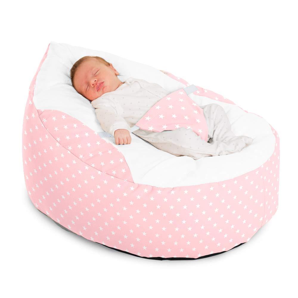 Baby Pink Cuddle Soft Stars Gaga Baby Bean bags