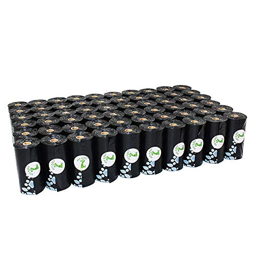PET N PET 1080 Counts Poop Bags Dog Waste Bags Earth-Friendly Large Black Unscented 60 Rolls (Refill Bags)