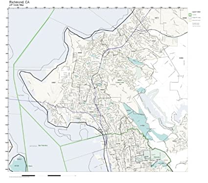 Amazon.com: ZIP Code Wall Map of Richmond, CA ZIP Code Map
