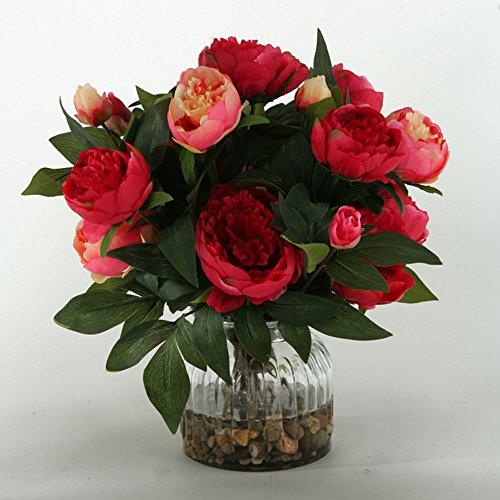 DW-Silks-Peonies-Silk-Flower-with-Glass-Vase