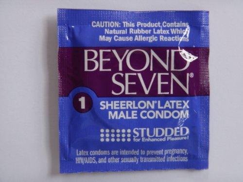 Okamoto Beyond Seven STUDDED Condoms - 50 condoms