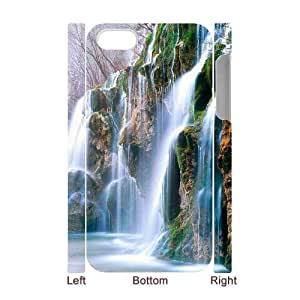 HXYHTY Diy hard Case Waterfall customized 3D case For Iphone 4/4s