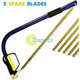 Dapetz ?? 21 Quality Tapered Bow Saw + 5 Spare Blades - Pruning - Logs - Camping by Dapetz