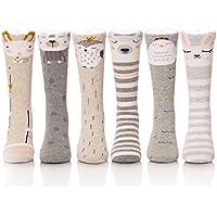 Color City Unisex Calcetines de bebé calcetines de caña alta–Cartoon Animal Cálido Algodón Medias