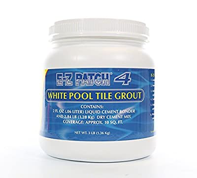 E-z Patch 4- White Pool Tile Grout Repair- 3 Lb