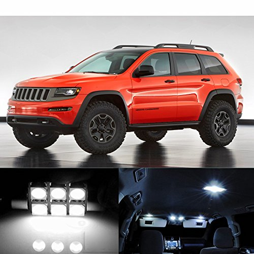 For 2011-2014 Jeep Grand Cherokee 15 Pieces Premium Xenon White LED Lights Interior Package Kit