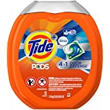 Tide PODS Plus Febreze Odor Defense Laundry Detergent Pacs, Active Fresh Scent, 61 loads, Designed For Regular...
