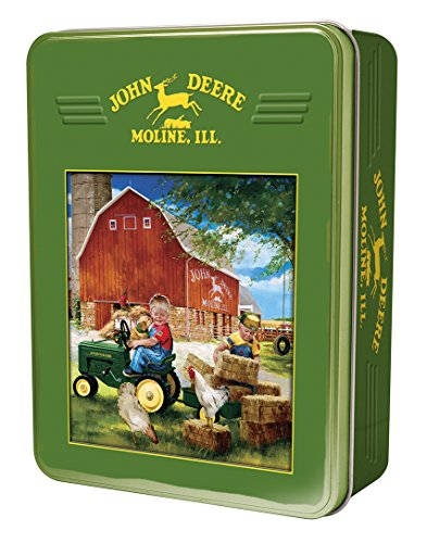 MasterPieces John Deere Growing up Country - 30 Series Pedal Tractor 1000 Piece Tin Box Jigsaw Puzzle by Donald Zolan