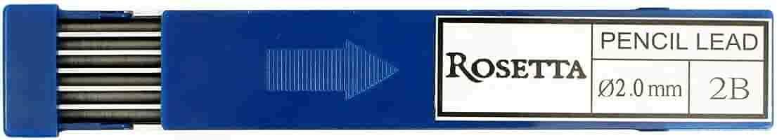 Pk//12 Rosetta Da Vinci Leadholder Graphite Leads 4B 2 mm