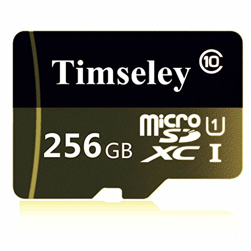Timseley 256GB Micro SD SDXC Memory Card High Speed Class 10 with Micro SD Adapter by Timseley