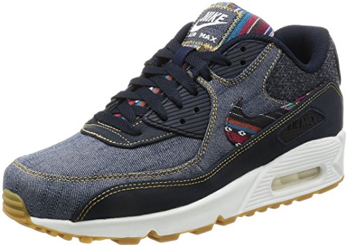 Cheap NIKE Men's Air Max 90 Premium Dark Obsidian/Dark Obsidian Running Shoe 10 Men US