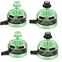 New 4X Racerstar Racing Edition 2205 BR2205 2600KV 2-4S Brushless Motor Green For 210 X220 250 280 By KTOY
