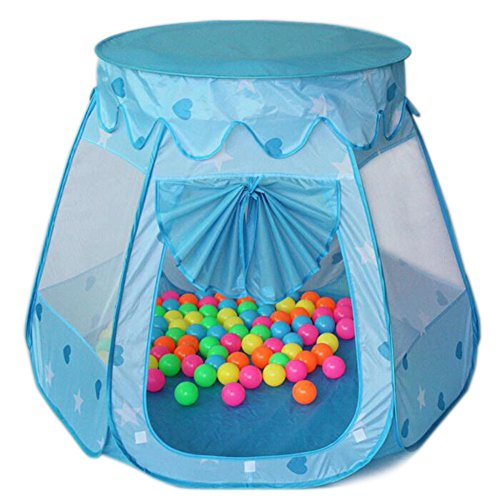 Amtinyjoy-Blue-Princess-Tent-Indoor-and-Outdoor-1-8-Years-Old-Children-Game-Play-Toys-Tent-Balls-Not-Included