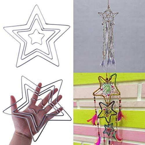 Yeahii Star Metal Dream Catcher Dreamcatcher Ring Macrame Craft Hoop DIY Accessories by Yeahii (Image #2)