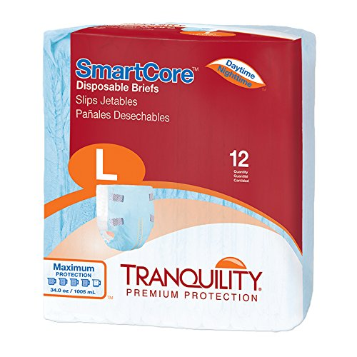 (Tranquility SmartCoreTM Adult Disposable Color-Coded Briefs (Large - 12 Count))