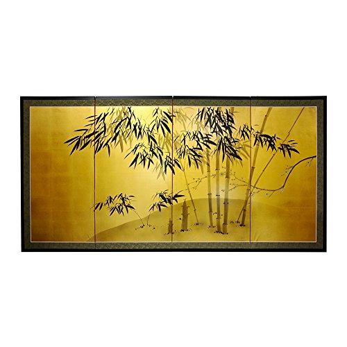 Oriental Furniture Gold Leaf Bamboo 24
