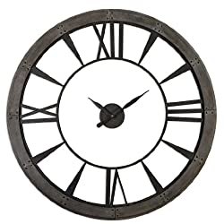 XL Open Faced Metal Gallery Wall Clock 60