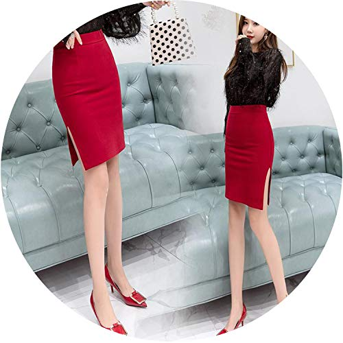 Used, Pencil Skirts Bodycon OL Women Side Split Solid Skinny for sale  Delivered anywhere in Canada