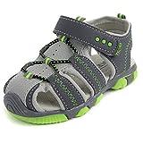 BININBOX Summer Breathable Sandals Girl Boys Toddler Kid Shoe Closed-Toe Line