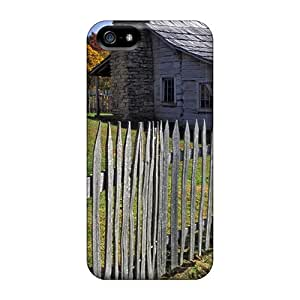 For Iphone 5/5s Fashion Design Wood Homestead Case-WbobAST968YLeQV