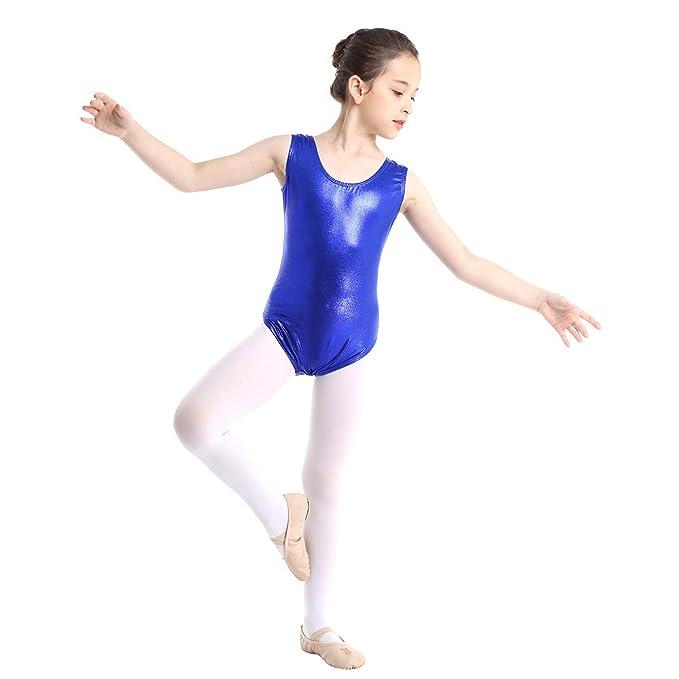 YiZYiF Maillot Gimnasia Rítmica Niñas Maillot Brillante Danza Clásica Body Patinaje Artísico Competición Leotardo Ballet Traje Bailarina Rendimiento ...