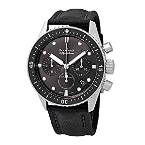 Best Epic Trends 51qT4mFEKrL._SS300_ Blancpain Fifty Fathoms Bathyscaphe Meteor Grey Dial Chonograph Automatic Mens Watch 5200-1110-B52A