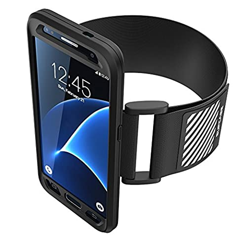 Galaxy S7 Armband, SUPCASE Easy Fitting Sport Running Armband with Premium Flexible Case Combo for (Braccio Di Montaggio)