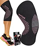 Physix Gear Knee Support Brace - Premium Recovery & Compression Sleeve For Meniscus Tear, ACL, MCL Running & Arthritis - Best Neoprene Stabilizer Wrap for Crossfit, Squats & Workouts (Single Pink L)