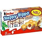 """Kinder """"Happy Hippo"""" Cocoa Cream Biscuits : Pack of 5 Biscuits by Ferrero [Foods]"""