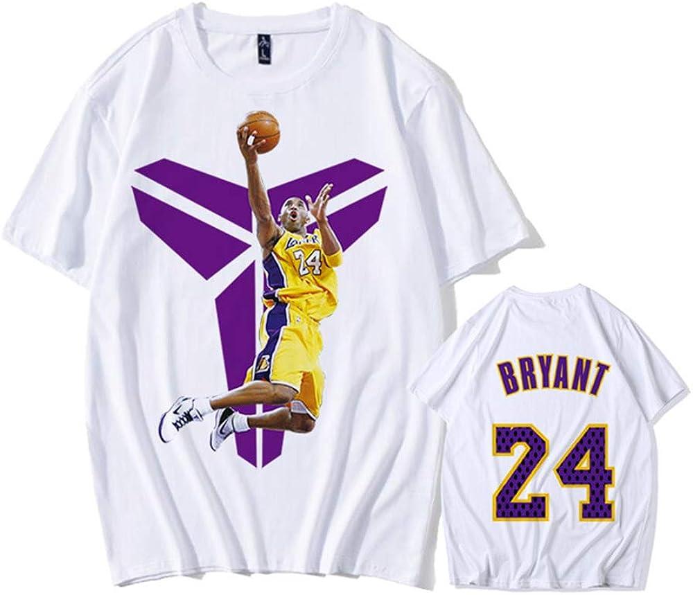 14 XXL Ropa De Baloncesto Negro Mamba Verano De Los Hombres De Manga Corta J/óvenes Estudiantes 24 ZXPYZ Lakers Kobe Bryant Camiseta Conmemorativa No