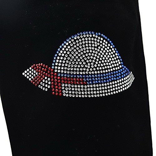 AllhqFashion Mujeres Cremallera Tacón Medio Gamuza(Imitado) Caña Alta Botas Negro