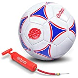 GoSports Premier Soccer Ball with Premium Pump (Single Ball Or 6 Pack in