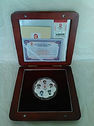 Beijing 2008 Harmonious Olympic Games Mascot Silver Commemorative Medallion with Gift Box