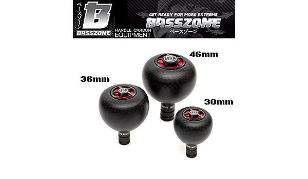 BASSZONE HI TECH POWER CARBON FIBRE KNOB  BLACK//RED