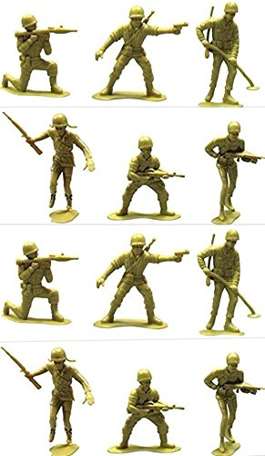 S.S Jumbo Army Men 4.75'' Large Soldiers - 1Dozen (12 Soldiers Jumbo Army Men) by S.S