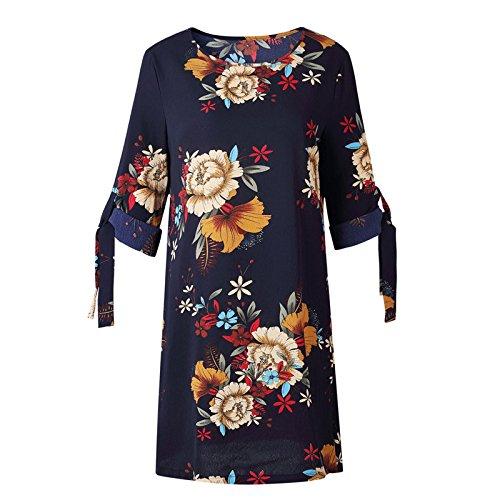 Manguito 07 Vestido Mujeres Dresshalf De De Lápiz Floral XINGMU O Color Parte Cuello Playa Verano 6ndCxqwg