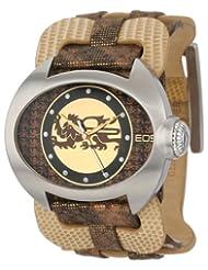 EOS New York Women's 36SBRN Raizel Wide Leather Strap Watch