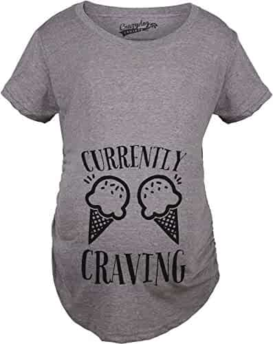 bd709d8e2a2f6 Maternity Currently Craving Ice Cream Funny Pregnancy Announcement T Shirt