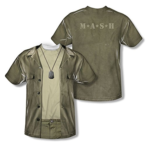 Radar Mash Costume - MASH - Kid's T-Shirt Hawkeye Costume , XL, White