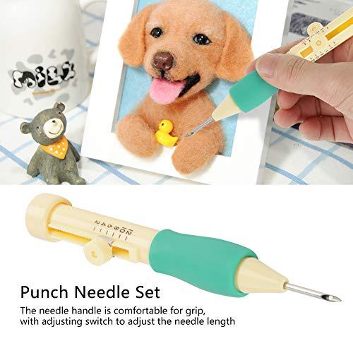 Kit de punzón bordado con agujas de punzón y 3 tamaños para bolígrafo de aguja, para bordar manualidades: Amazon.es: Juguetes y juegos