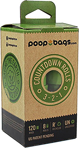 (PoopBags (CDR072) Poop Bags Recycled 9x13 Count Down Rolls, are individually numbered to countdown from 15 to 1 so you always know how many are left on the roll- 120 Bags)