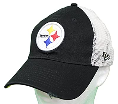 New Era Pittsburgh Steelers Stated Back 9TWENTY Adjustable Trucker Hat/Cap by New Era