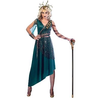 Amscan Disfraz de Medusa Verde para Mujer Small (UK 8-10)