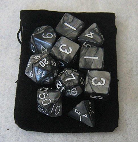 Smoke Black RPG Dice Set product image