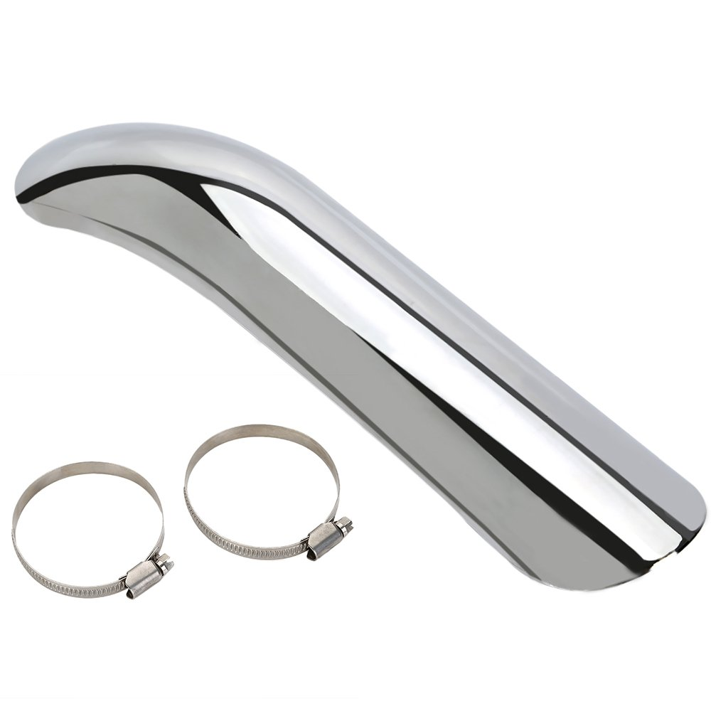 CICMOD Curve 10.6'' Heat Shield Exhaust Muffler Tip Pipe Cover Guard For Harley Chopper by OSAN (Image #1)