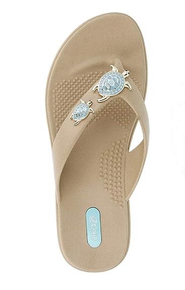 4ba1836e01c7 Oka-B Women s Theresa Flip Flop Sandal (Small   5.5-6.5 B(