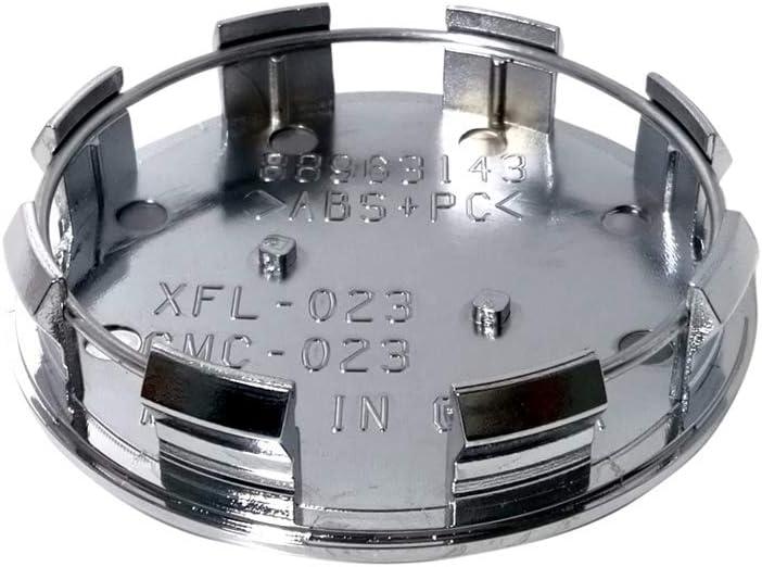 Handypart Pack of 4 GMC 83mm// 3.25 Chrome Wheel Center Caps Emblem Logo Rim Center Hub Caps for GMC Sierra//GMC Yukon//GMC Denali//GMC